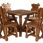 Стол Э0201-03(М) в комплекте со стульями под старину
