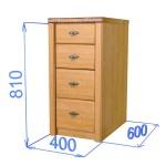Шкаф-стол 4-мя ящиками, цвет дуб