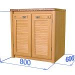 Шкаф-стол 2-мя дверками, цвет дуб