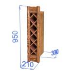 Шкаф настенный для бутылок, цвет палисандр