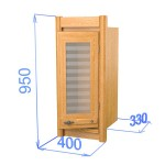 Шкаф настенный со стеклом, цвет дуб