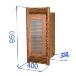 Шкаф настенный со стеклом, цвет палисандр