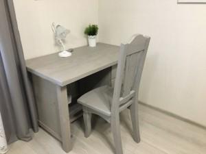 Cтол письменный, массив, цвет серый(прованс)